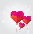 valentines heart balloons vector image