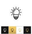 Lightbulb or innovation and idea icon vector image