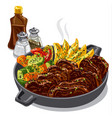 roastbeef with vegetables vector image