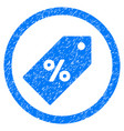 discount tag rounded grainy icon vector image