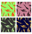 assembly of patterns in striped style vector image vector image