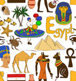 Sketch Egypt seamless pattern vector image