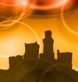castel sunset vector image vector image
