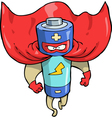 battery superhero vector image vector image