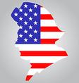 American Minutemen Silhouette vector image
