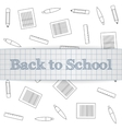 Back to School realistic paper Label vector image