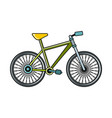 bike cartoon icon on white background vector image