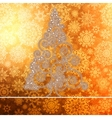Christmas card with golden glowing EPS8 vector image