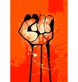 clenched fist hand vector image
