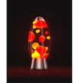Lava lamp vector image