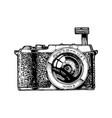 mirrorless interchangeable-lens camera vector image