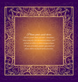 vintage border lace invitation card with mandala vector image