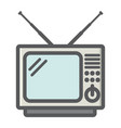 vintage tv colorful line icon household appliance vector image