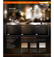 website template for business vector image