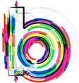Colorful Font - Letter b vector image vector image