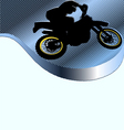 motorcycle racing background vector image vector image