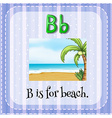 Flashcard letter B is for beach vector image vector image