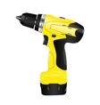 electric screwdriver drill vector image