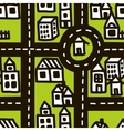 Doodle map of cute town vector image