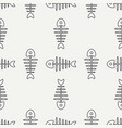 flat line monochrome seamless pattern ocean vector image