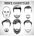men hairstyles vector image
