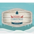 Signboard with Christmas greeting against a winter vector image