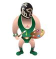 wrestler painter vector image