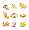 Breakfast Food Assortment Set Of Isolated Icons vector image