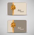 Gift card with stripes and bow vector image vector image