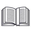 Open book with tag line icon sign vector image