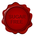 SUGAR FREE wax seal vector image