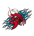 red prawn vector image vector image