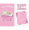 baby girl in the bath vector image vector image