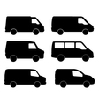 vans on white background vector image