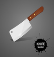 Big knife vector image vector image
