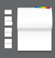 collection of book blank white paper on white back vector image