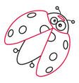 coloring page of cartoon ladybug vector image