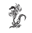 dragon tattoo art vector image