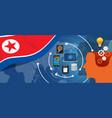 North korea or democratic people s republic of vector image
