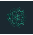 ornamental background with pattern style vector image
