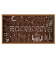 School board doodle with ecomony symbols vector image