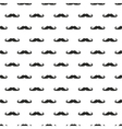 Seamless background pattern with black mustache vector image