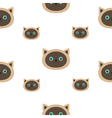 Siamese cat seamless pattern Flat design style vector image