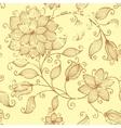 vintage floral seamless pattern element vector image vector image