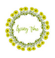 spring wreath with pheasant s eye flowers vector image