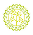 organic product guaranteed seal vector image