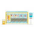 public city transportation system item bus stop vector image