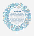support service concept in circle vector image vector image