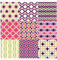 Seamless retro geometric wallpaper vector image