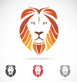 image of an lion head vector image